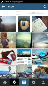 Hashtag overzicht KLM