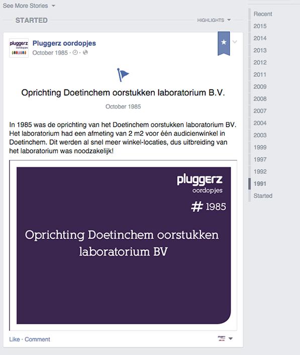 Voorbeeld mijlpalen Pluggerz