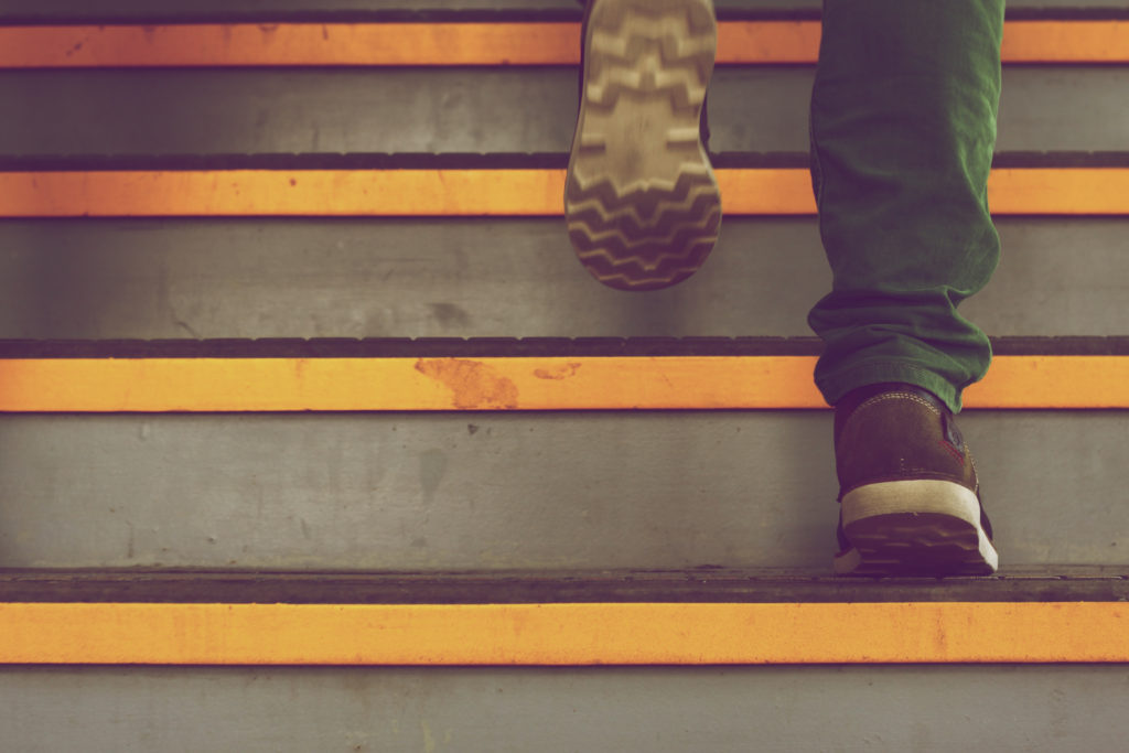 Walking on stairs - step by step content marketing