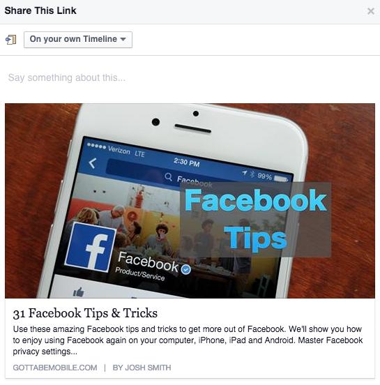 Content curatie Facebook