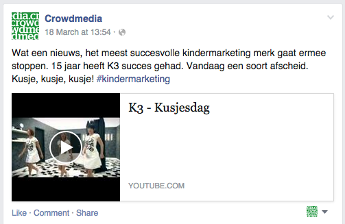 Facebook - gedeeld via YouTube